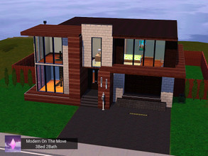 Sims 3 — Modern On The Move (BaseGame,NO CC) by Pink_Altitude — A modern home for the family on the move, this home is