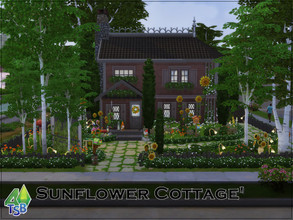 Sims 4 — Sunflower Cottage' by Bozena — The house is located in the Willow Creek district. Foundry Cove. -kitchen