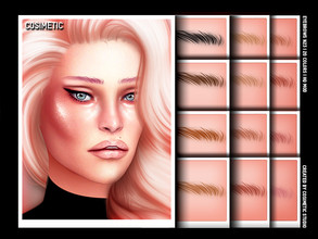 Sims 4 — COSIMETIC Eyebrows N23 by cosimetic — - This eyebrow can use on all genders and from teen to elder. - Contains [