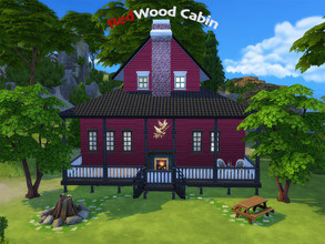 Sims 4 — RedWood Holiday Cabin by aydoline — Don't we all deserve a short break? Go hiking in the forest and enjoy the