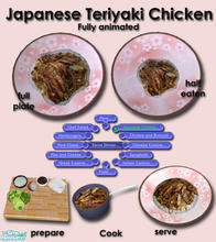 Sims 2 — Japanese Cuisine - Teriyaki Chicken by Simaddict99 — Teriyaki chicken with veggies served on a bed of steamed