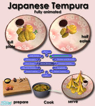 Sims 2 — Japanese Cuisine - Tempura by Simaddict99 — Prawn and veggie (sweet potato & carrot) tempura. Available at