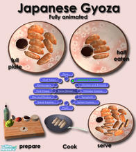 Sims 2 — Japanese Cuisine - Gyoza by Simaddict99 — Available at dinner, both make & serve. Requires 5 cooking skills.