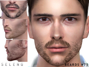 Sims 4 — Beard N75 by Seleng — Teen to Elder 10 colours Custom Thumbnail HQ mod compatible The picture was taken with HQ