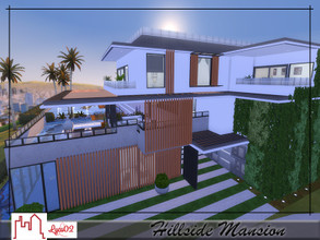 Sims 4 — Hillside Mansion by Lyca02 — Hillside Mansion by Lyca02 No CC Lot: 50x40 Mansion build contains: 4 Floors 6