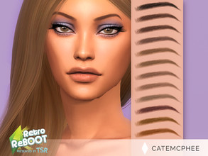 Sims 4 — Retro ReBOOT 80's Thin Brows EB-15 by catemcphee — - 12 Swatches - TSR 2021 Retro ReBOOT Collab - enjoy :)