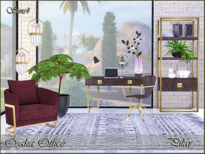 Sims 4 — Osaka Office by Pilar — Timeless elegance with an oriental touch