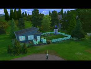 Sims 4 — Starter Minthaus by AlolanShiro by AlolanShiro — Hello there! I just built this tiny starter residential lot for
