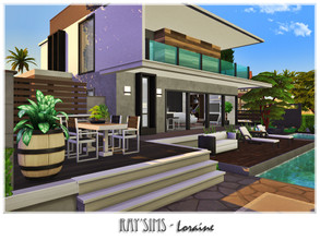 Sims 4 — Loraine by Ray_Sims — This house fully furnished and decorated, without custom content. This house has 2 bedroom