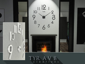 Sims 4 — 3D Wall Clock (Not a Decal) by TyrAVB — This big 3D wall clock can be impressive design focal point in any