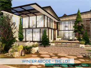 Sims 4 — Winter Abode - The Lot by Lhonna — Large modern house shell for my Winter Abode rooms. Put the house whit