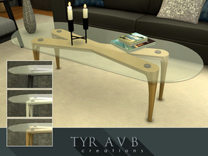 Sims 4 — Metal Coffee Table  by TyrAVB — This coffee table combines mid century, 70's and modern design and therefor fits