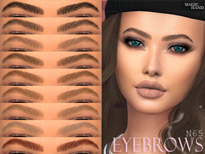 Sims 4 — [MH] Eyebrows N65 by MagicHand — --12 available colors-- --Compatible with HQ settings-- --CAS thumbnail--