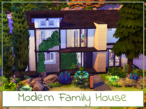 Sims 4 — Modern Family House by simmer_adelaina — ---PLEASE DON'T FORGET ABOUT MOO BEFORE PLACING--- Hello! I have built