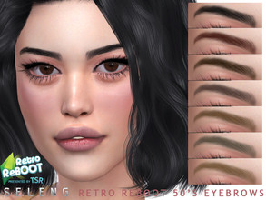Sims 4 — Retro ReBOOT 50's Eyebrows by Seleng — Female 10 colours Custom Thumbnail The picture was taken with HQ mod