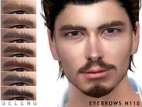 Sims 4 — Eyebrows N110 by Seleng — Male 10 colours Custom Thumbnail The picture was taken with HQ mod Happy Simming!
