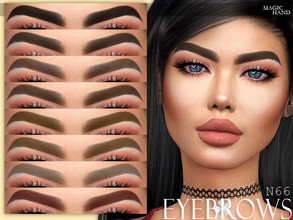 Sims 4 — [MH] Eyebrows N66 by MagicHand — --12 available colors-- --Compatible with HQ settings-- --CAS thumbnail--