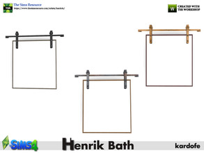 Sims 4 — kardofe_Henrik Bath_Mirror by kardofe — Industrial style wall mirror, hung on rails, in three color options