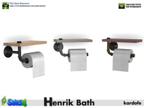 Sims 4 — kardofe_Henrik Bath_roll holders by kardofe — Toilet paper holder, industrial style, built with water pipes and