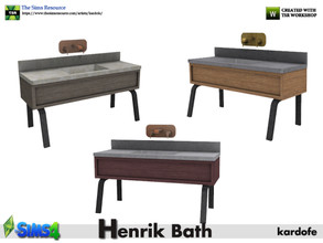 Sims 4 — kardofe_Henrik Bath_Sink by kardofe — Industrial style metal and wood vanity with polished concrete countertop,