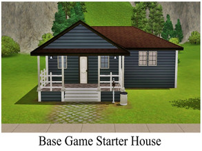 Sims 3 — Base Game Starter House by GhostlySimmer — Small starter house for your sim or a couple. This house features 1
