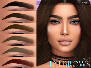 Sims 4 — [MH] Eyebrows N67 by MagicHand — --12 available colors-- --Compatible with HQ settings-- --CAS thumbnail--