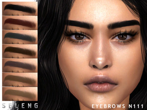 Sims 4 — Eyebrows N111 by Seleng — Female /male 10 colours Custom Thumbnail The picture was taken with HQ mod Happy
