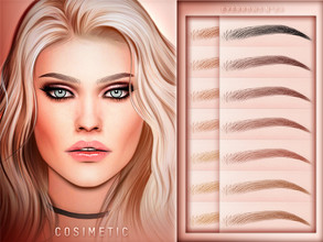 Sims 4 — COSIMETIC Eyebrows N24 by cosimetic — - This eyebrow can use on all genders and from teen to elder. - Contains [