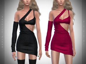 Sims 4 — Pipco - Kathryn Dress. by Pipco — 12 Swatches Base Game Compatible New Mesh All Lods Specular and Normal Maps