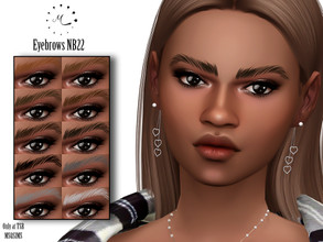 Sims 4 — Eyebrows NB22 by MSQSIMS — - Base Game - 10 Swatches - All Ages - Female/Male - HQ Mod Compatible - Custom