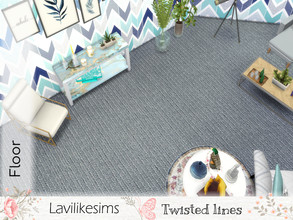Sims 4 — Twisted Lines by lavilikesims — A carpet finish floor in a gray