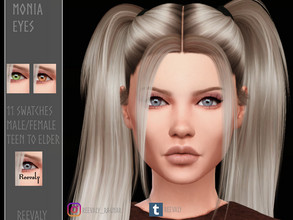 Sims 4 — Monia Eyes by Reevaly — 11 Swatches. Teen to Elder. For Male and Female. Please do not reupload.