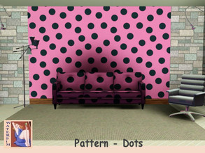 Sims 3 — ws Dots Vintage Pattern by watersim44 — A new selfmade dots pattern for your Sims. Category geometric by