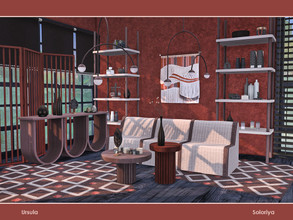 Sims 4 — Ursula by soloriya — A set of furniture for your living rooms. Includes 11 objects: --three ceiling lights,