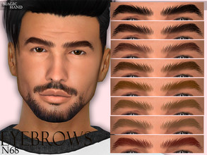 Sims 4 — [MH] Eyebrows N68 by MagicHand — --12 available colors-- --Compatible with HQ settings-- --CAS thumbnail--