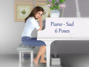 Sims 3 — Piano Poses - Sad by jessesue2 — This set was designed upon request and will be the first of many pose set