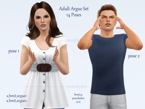 Sims 3 — Adult Argument by jessesue2 — *14 poses *pose list compatible Note: some of these poses are gender specific, for