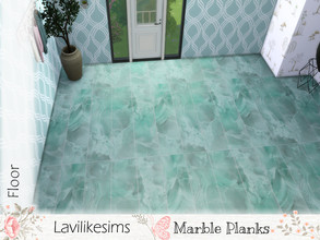 Sims 4 — Marble Planks by lavilikesims — A marble floor in long stripes instead of squares In 6 swatches