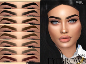 Sims 4 — [MH] Eyebrows N69 by MagicHand — --12 available colors-- --Compatible with HQ settings-- --CAS thumbnail--