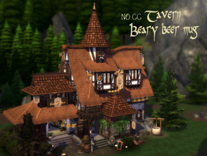 Sims 4 — Tavern 'Beary beer mug' by VirtualFairytales — 'Hey you! - I don't know you...I know every person in this