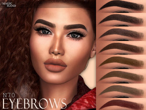 Sims 4 — [MH] Eyebrows N70 by MagicHand — --12 available colors-- --Compatible with HQ settings-- --CAS thumbnail--