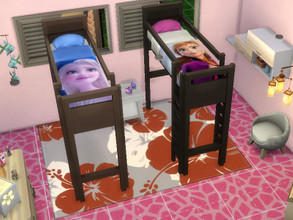 Sims 4 — Anna and Elsa Bunkbed by julimo2 — Elsa and Anna Frozen 2 bunk bed so cool !
