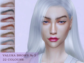 Sims 4 — Valuka brows N2 by Valuka — 22 colours. You can find it in brows. Thumbnail for identification. HQ compatible.