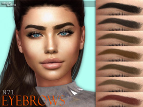 Sims 4 — [MH] Eyebrows N71 by MagicHand — --12 available colors-- --Compatible with HQ settings-- --CAS thumbnail--