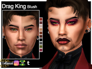 Sims 4 — Drag King Blush by EvilQuinzel — - Blush category; - Female and male; - Teen + ; - All species; - 10 colors; -