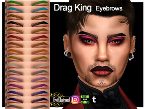 Sims 4 — Drag King Eyebrows by EvilQuinzel — - Eyebrows category; - Female and male; - Teen + ; - All species; - 16