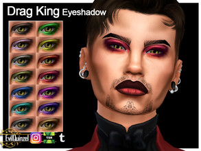 Sims 4 — Drag King Eyeshadow by EvilQuinzel — - Eyeshadow category; - Female and male; - Teen + ; - All species; - 14