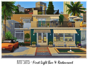 Sims 4 — Retro ReBOOT - First Light Bar & Restaurant by Ray_Sims — This house fully furnished and decorated, without