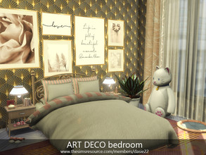 Sims 4 — ART DECO bedroom by dasie22 — ART DECO bedroom is a charming room for a teenager. The room was built in San