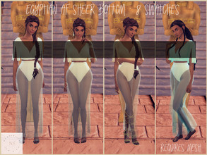 Sims 4 — Egyptian AF Sheer Skirt by bekahluann — Egyptian Themed AF Skirt ~ Requires Mesh